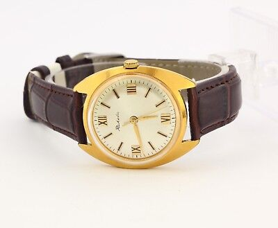 VGC 1960's Raketa 2609 USSR Soviet gold plated men's watch, 16 jewels Export
