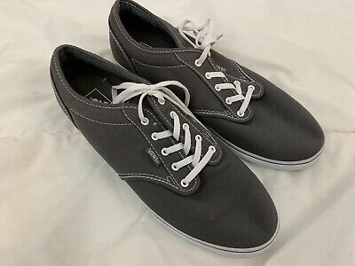 b52fdad4deb4 Vans AUTHENTIC LO PRO Women s Pewter True White Canvas Lace Up Shoes Size 11