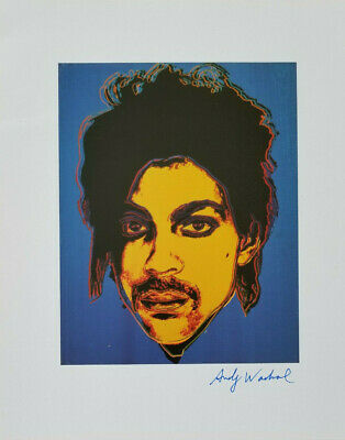 Andy Warhol 1984 Hand Signed In Blue Pen High Quality Print Prince + No Reserve!