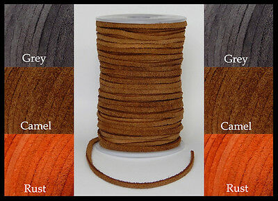 3mm 4mm 5mm FLAT SUEDE 100% REAL LEATHER STRAP HIGH QUALITY CORD LACE THONG BELT