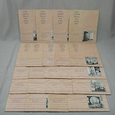 Lot of 23 Woodworking Project Patterns Step-by-Step Queen Anne Furniture Project