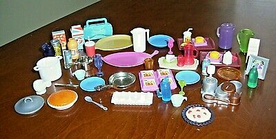Lot Of Barbie Kitchen Accessories 44 Pieces From The 2000's