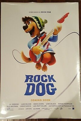 ROCK DOG Original Movie Poster 27x40 2-Sided Authentic Teaser Version
