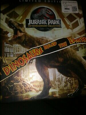 Jurassic Park: 25th Anniversary Collection (DVD, 2015, 6-Disc Set) has sleeve