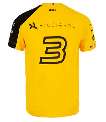 NEW Official 2019 Daniel Ricciardo Renault F1 Tee (Mens, Ladies and Kids Sizes)