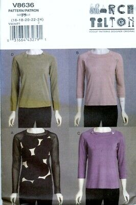 Uncut Sewing Pattern Ladies Marcy Tilton Pullover Darted Neckband Tops 16-24