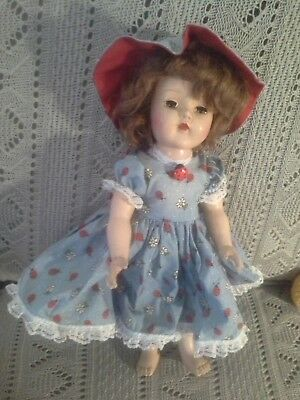 GENUINE  VINTAGE abt 1950  very pretty in lovely outfit with LADYBIRDS