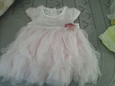 Elaborate silk dress in pink and lace   new with ticket