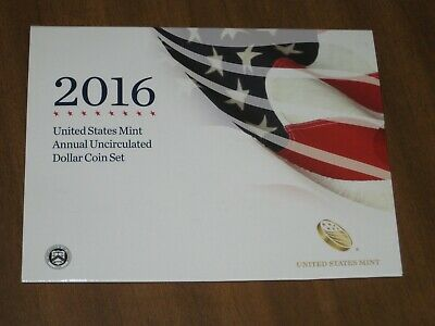 2016 United States Mint Annual Uncirculated Dollar Coin Set w/ Silver Eagle