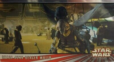 Star Wars Episode I WIDEVISION Chrome Card C3 Space Junk dealer Watto TOPPS 1999
