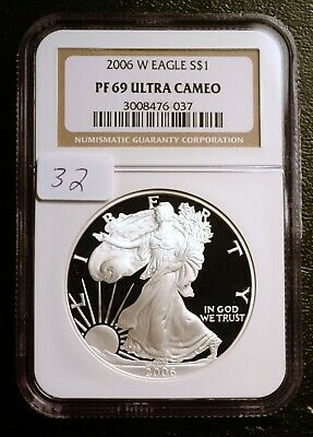 2006-W Silver $1 ASE American Eagle NGC PF69 ULTRA CAMEO $65 (#32)