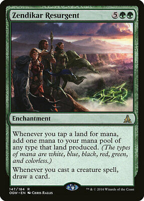 1X Zendikar Resurgent - Oath Gatewatch - Magic the Gathering TCG Green Rare LP