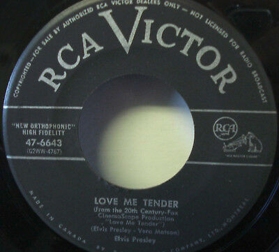 Elvis Presley - Love Me Tender - Original 45rpm Free Shipping in Canada