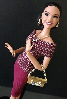 OOAK Barbie Doll Size Designer 2 Pc Outfit ( top and skirt separates) NEW!!