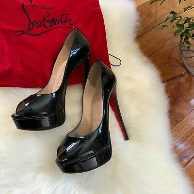 hot sale online 15e98 05c9e CHRISTIAN LOUBOUTIN PIGALLE 120, RED BOTTOMS, Patent Calf ...