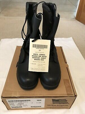 Genuine US Military McRae All Leather Speedlace Combat Boots Black New