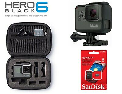 GoPro HERO6 Waterproof 4K Sports Action Camera 12MP Wide Angle Hero 6 with Case!
