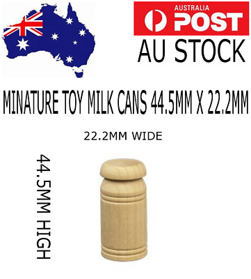 5 Wooden Minature Milk Cans (44.5Mm) X (22.2Mm)  Toy Hobby Model Parts (Tc20Mc)