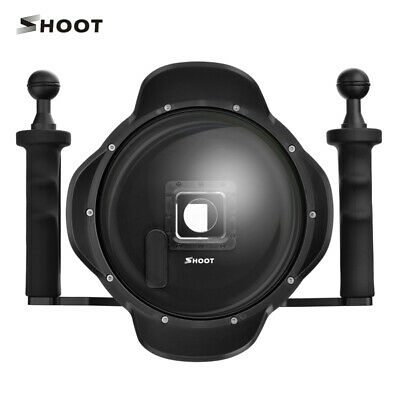 Double/Single Handle Shoot Dome Port Diving Housing Underwater GoPro Hero 4 3+