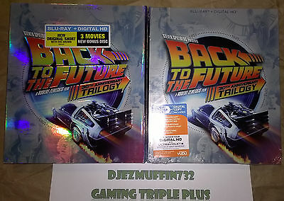 Back To The Future Trilogy 30Th Anniversary Blu Ray + Dig Hd Digibook Slip Cover
