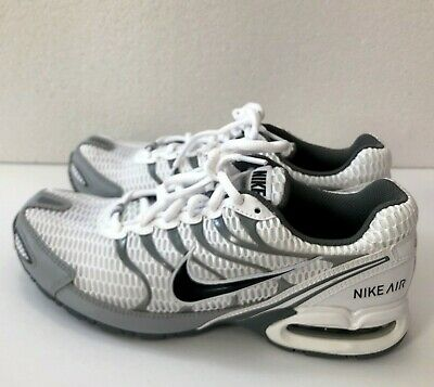 14744694a606f Nike Air Max Torch 4 Mens 343846-100 White Anthracite Grey Running Shoes Sz  8