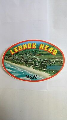 Original Vintage 1970s Lennox Head Surf Sticker