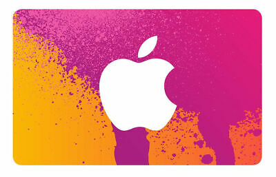 Apple iTunes $25 physical gift card