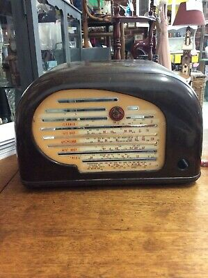 Vintage Art Deco Peter Pan Bakelite Valve Snail Radio - Casing Only