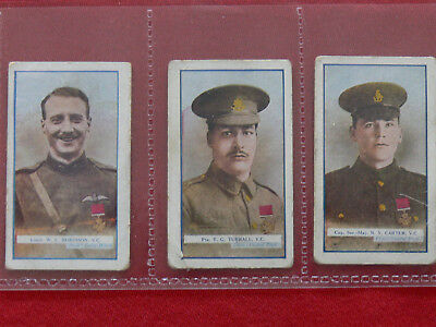 3,1915/16 The Great war VC heroes, 6th series Cigarette cards