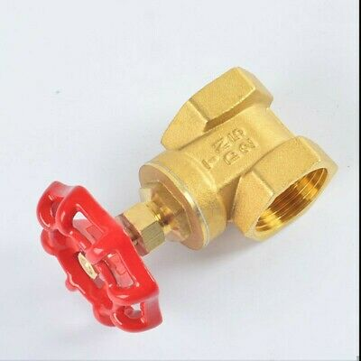 Thicken 1/2''~2'' BSP Brass FIP X fip Gate Valve with Red Wheel Handle Durable