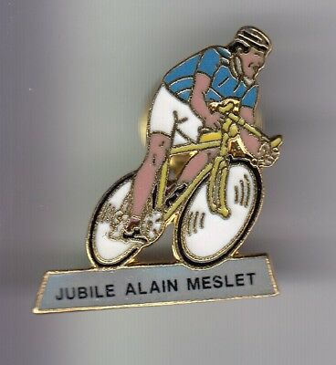 Rare Pins Pin's .. Velo Cyclisme Cycling Club Team Jubile Alain Meslet Or ~Ea