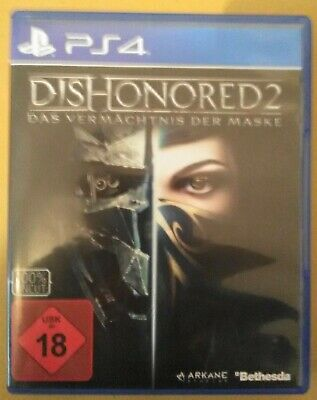 Dishonored 2  PS4 PlayStation 4 (NEU & OVP) (UNCUT)