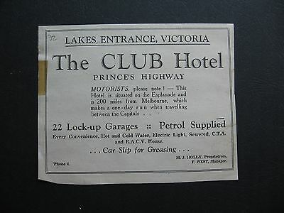 The Club Hotel Lakes Entrance  M J Holly , F West