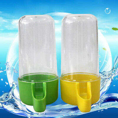 Water Drinking Feeder Bird Canary Drink Container Bottle Food Plastic Brand New
