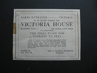 Victoria House Lakes Entrance Mrs R Russell Symmons