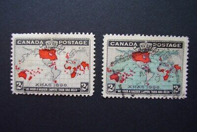 Canada  1898 map stamps used   (lot 356)