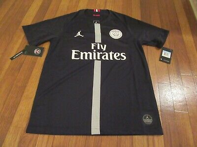 47383c0b00d0af Nike Jordan Paris Saint-Germain PSG Stadium Third Jersey Size Medium Black  New