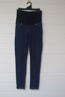 A Pea in a Pod Maternity Jeans Blue Denim Size 10 with Belly Band