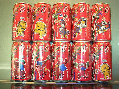 10 X 375Ml (Set) 1996 Olympic Coca Cola Cans