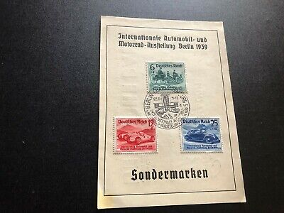 germany classic card used value of stamps 82.50 aa3026