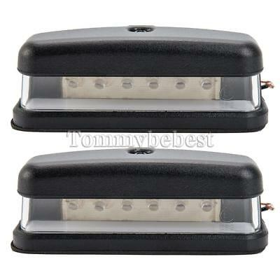 2X 12V 6 Led Rear License Number Plate Light Lamp Truck Caravan Trailer Lorry