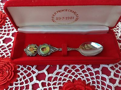 Charles And Diana Commemorative Spoon - Wedding 1981 - Silver plated