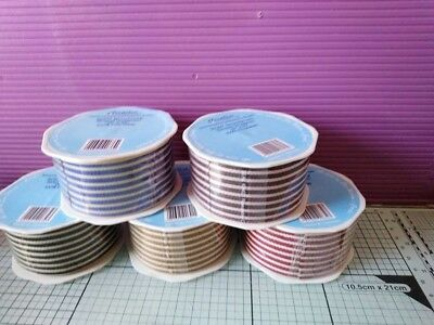 CREATIVE EXPRESSION 5 ROLLS25 yards total GROSGRAIN RIBBON 1.5 INCHS WIDE