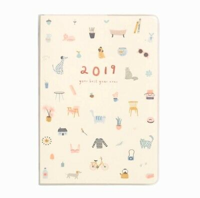 KIKKI K Diary 2019 A5 WEEKLY Diary Journals Planner Free Stickers Book BRAND NEW