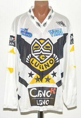 Lugano Switzerland Ice Hockey Shirt Jersey Tzamo Size Xl Adult