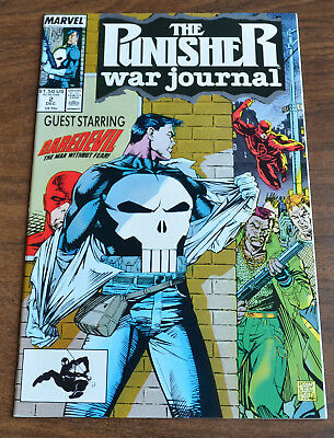 The Punisher WAR Journal #2 - 1988 - Near Mint NM Signed By Jim Lee & Carl Potts