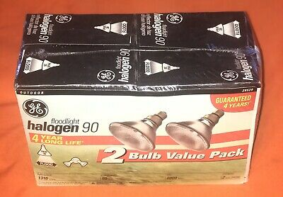 Ge Floodlight Halogen 90 2 Bulb Value Pack(Par38) New Sealed Box