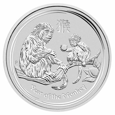 2016 Australia Lunar Year Of Monkey  1 Oz .999 Fine Silver In Mint Capsule