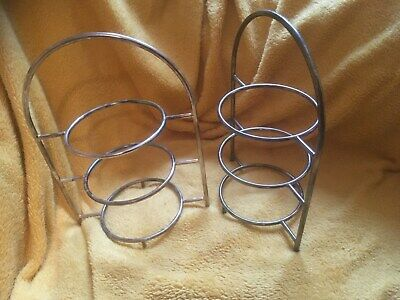 A pair of Vintage silver Plated Afternoon Tea plate stands well used but nice