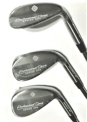 Brand New! Professional Open 3 Wedge Set 52, 56, 60 Choice Of Shafts,Flex,Grips